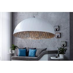 riess-ambiente Hängeleuchte GLOW 70cm weiß / silber, Modern Design