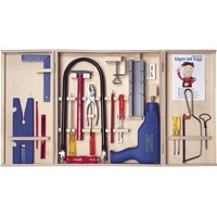 Pebaro 408PL Qualitäts-Laubsägeschrank mit 28 Teilen, komplettes Set mit Bohrmaschine