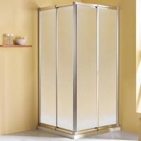 Breuer Fara 4 Eckeinstieg 80-90 x 70-80 x 185 cm Alu silber matt/Kunststoffglas Perle