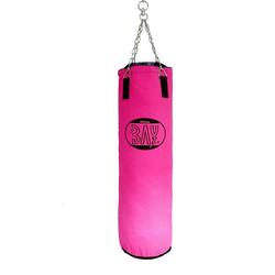 BAY-Sports Boxsack Sandsack 120 x 30 cm Canvas pink ungefüllt groß