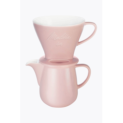 Melitta Melitta® Bundle Kaffeefilter Porzellan 1x4 + Kaffeekanne 0,6l Rosé