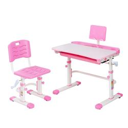 Natsen Kinderschreibtisch (Schreibtisch-Set, 2-St), mit Stuhl, höhenverstellbares Schreibtisch-Set für Kinder, neigbarer Schreibtisch mit Schublade (Rosa) rosa