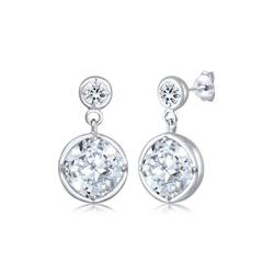 Elli Paar Ohrhänger Ohrhänger Edel Kristalle 925 Silber