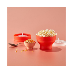 LEKUE Popcornmaschine Mikrowellen Popcorn Maker MINI, 2er-Set, 2 Zubereiter für je eine Portion a 700ml