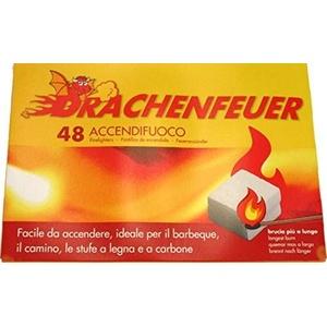 UNION IMPORT Drachenfeuer Grill & Kaminanzünder-Kohle & Feueranzünder,48 Stück