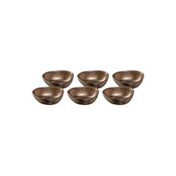 LEONARDO Schale NOLI Keramikschüssel 15 cm braun 6-tlg., Keramik, (6-tlg)
