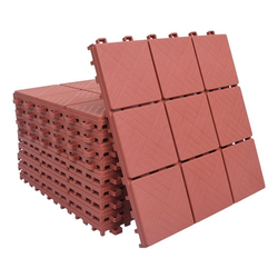 Teppichboden vidaXL Terrassenfliesen 10 Stk, Rot 30 x 30 cm Kunststoff, vidaXL