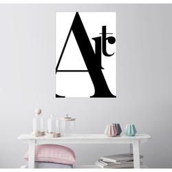 Posterlounge Wandbild, Typografie Art 100 cm x 130 cm
