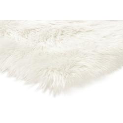 Teppich Synthetik Lammfell weiß ca. 60/100 cm