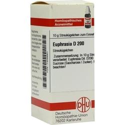 EUPHRASIA D 200 Globuli 10 g
