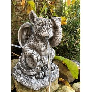 Wasserspeier Steinfigur Drache W37