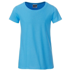 T-Shirt für Mädchen | James & Nicholson sky-blue 158/164 (XXL)