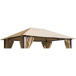 Grasekamp Ersatzdach zu Pavillon Paris 3x4m Sand  Plane Bezug Gartenpavillon