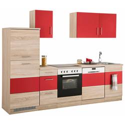 Küchenzeile Perth, ohne E-Geräte, Breite 270 cm rot