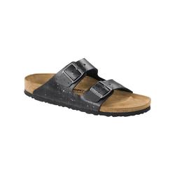 Sandale Arizona Leder schmal Birkenstock grau