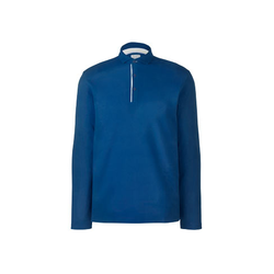 Tchibo - Langarm-Poloshirt Blau - Gr.: XL