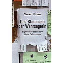 Das Stammeln der Wahrsagerin. Sarah Khan  - Buch