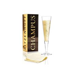 Ritzenhoff Champagnerglas CHAMPUS GOLDEN FANS 2020 Champagnerglas (1-tlg), Glas