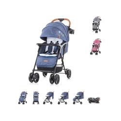 Chipolino Kombi-Kinderwagen Kinderwagen 2 in 1 April, 22 kg, klappbar, Vorderräder gefedert blau