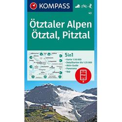 Ötztaler Alpen Ötztal Pitztal 1:50 000