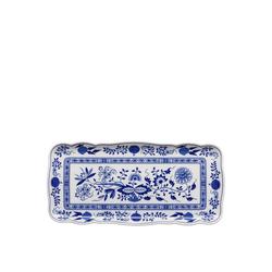 Hutschenreuther Kuchenteller Blau Zwiebelmuster Kuchenplatte rechteckig 33 x 15,5 cm