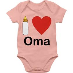 Shirtracer Shirtbody I love Oma Nuckelflasche - Strampler Motive - Baby Body Kurzarm 1/3 Monate