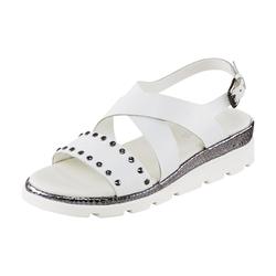 Sandalette mit Nieten weiß 39