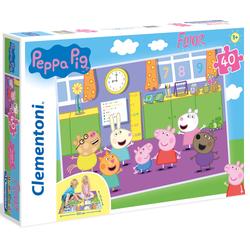 Clementoni Puzzle Bodenpuzzle - Peppa Pig, Made in Europe bunt Kinder Gesellschaftsspiele
