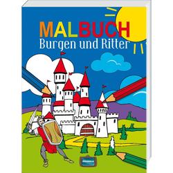 Malbuch Burgen und Ritter: Taschenbuch von