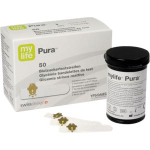 Mylife Pura Blutzucker Teststreifen 50 Stück & Gratis-Bonusheft für Diabetiker
