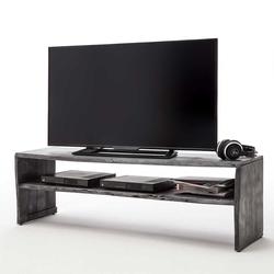Fernseher Tisch in Grau Akazie Massivholz