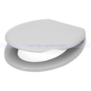 Toilettensitz aus Kunststoff weiß WC-Sitz aus bruchsicherem Kunststoff
