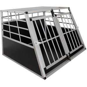 Sam ́s Pet Aluminium Hundetransportbox Größe XL schwarz/Silber| Alu Auto Transportbox große Hunde | Hundebox für PKW Kofferraum