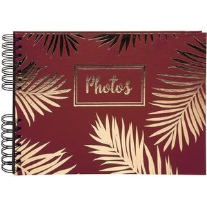 Exacompta 16208E Premium Fotoalbum Palma mit 50 schwarzen Seiten, perfekt für Ihre Fotos zum selbstgestalten Fotobuch Spiralalbum rot
