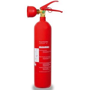 Minimax Kohlendioxid-Feuerlöscher 2 kg   Feuerlöscher 2 Kilo CO2   Brandklasse B   EN3   Made in Germany