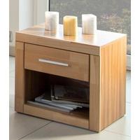Preisvergleich Produktbild Home affaire Nachttisch Triest, mit Schublade, Breite 50 cm natur ohne Aufbauservice