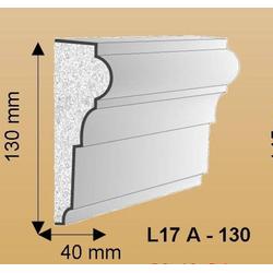 L17A Fassadenstuck Leiste Styroporstuck Profile Fassadenprofil 105x35 bis 145x45mm 300cm (Größe: 130mm)