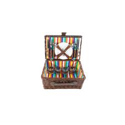 Neuetischkultur Picknickkorb Picknickkorb für 4 Personen (21 Stück), Picknickkorb bunt