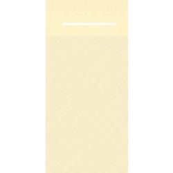 Mank UNI Pocket-Napkins Besteckservierttentasche, 40 x 40 cm, 1/8 Falz, 4-lagig, Farbe: creme, 1 Karton = 4 x 75 Stück = 300 Serviettentaschen