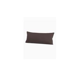 Schlafgut Kissenbezug Mako Jersey in schoko, 40 x 80 cm
