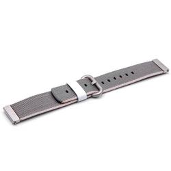 vhbw Ersatz Armband passend für Withings Steel Hr, 40mm Fitness Uhr, Smart Watch - 10.7cm + 8.3cm Nylon grau