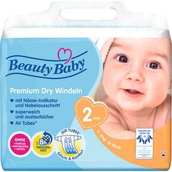 Beauty Baby Windeln Premium Dry Größe Gr.2 (4-8 kg) für Babys und Kleinkinder