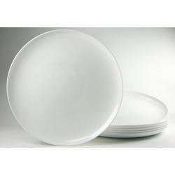 Luminarc Pizzateller, (6 Stück), Glas weiß
