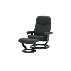 Stressless Sessel-Hocker-Set  Garda M ¦ schwarz ¦ Maße (cm): B: 76 H: 100 T: 71