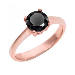 Verlobungsring aus 585 Gold mit schwarzem Diamant Remmey