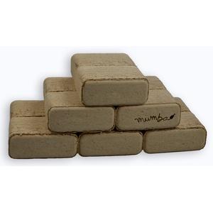 mumba - Probierset 3 x 10kg (insgesamt also 30kg) Buchenbriketts RUF, viereckig, Holzbrikett, Holz-Briketts aus Buchenholz