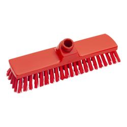 Haug Besen, 330 x 70 mm, mittel, Hygienebesen mit Polyesterbesatz, Farbe: rot