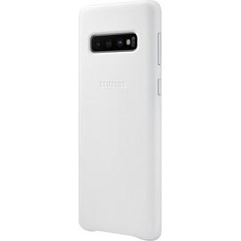 Samsung Leather Cover EF-VG973 für Galaxy S10 weiß