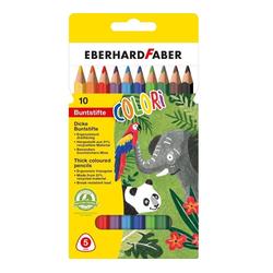 Eberhard Faber Buntstift Colori Dicke Buntstifte, ergonomisch dreiflächig, (10-tlg), 10 Stifte