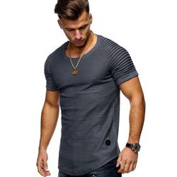 behype T-Shirt ARNOLD im Biker-Style grau S
